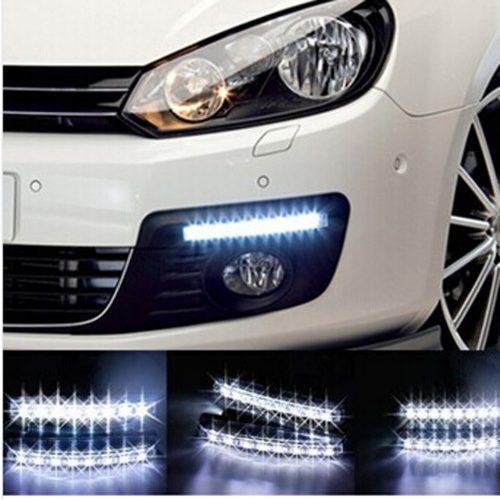 LED dienos šviesos žibintai automobilyje