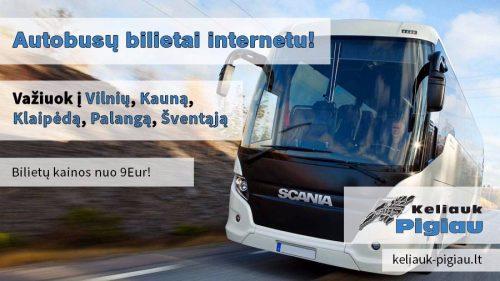 Autobusai: Vilnius – Kaunas – Klaipėda – Palanga – Šventoji.