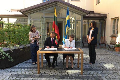 """Lietuva ir Švedija bendradarbiaus eismo saugos srityje ir įgyvendins """"Viziją 0"""""""