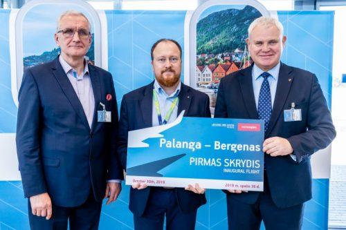 Į Bergeną iš Palangos oro uosto pakilo pirmasis lėktuvas