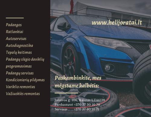 Helijoratai.lt padangos, ratlankiai, autoservisas Kaune– kokybė Jūsų automobiliui