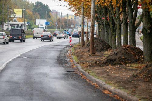 Atnaujinta jau 5 km Laisvės prospekto Vilniuje