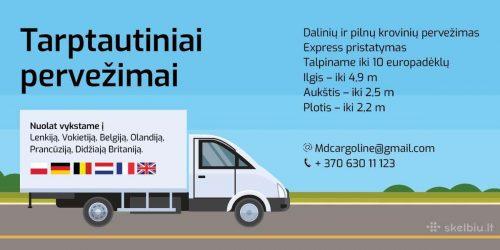 Krovinių pervežimas Lietuva – Europa- Lietuva