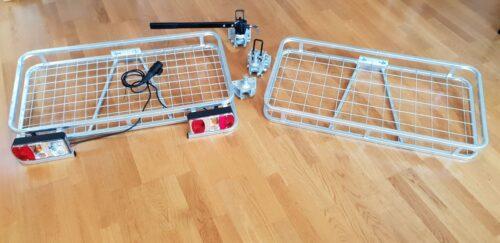 Krovininės (Cargo) platformos ant vilkimo kablio su/ be sukabintuvu